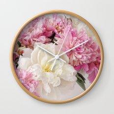 Pionies Wall Clock
