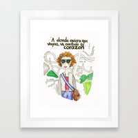 Going Places Framed Art Print