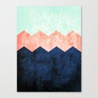 triple chevron (2) Canvas Print