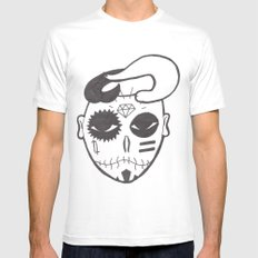 Skull Boy SMALL White Mens Fitted Tee