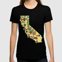 Super California Womens Fitted Tee Black SMALL
