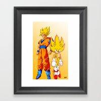 Super Sonic Warriors Z Framed Art Print