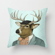 Going Stag Throw Pillow
