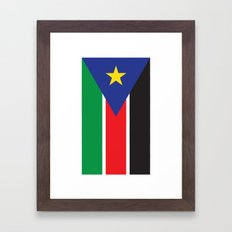 South Sudan Framed Art Print