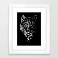 MADAME CAT Framed Art Print