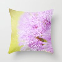 Lavender flower macro Throw Pillow