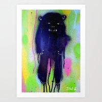 Night-bear Art Print