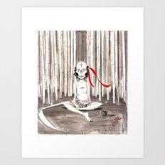 Death Wears a Mask Art Print