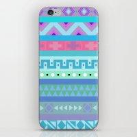 Calm Colored Tribal Print iPhone & iPod Skin