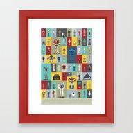 Framed Art Print featuring Synthespians by Scott Park Illustrat…