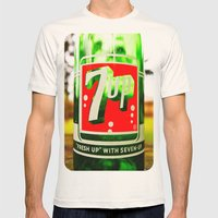 Classic 7 Up bottle Mens Fitted Tee Natural SMALL