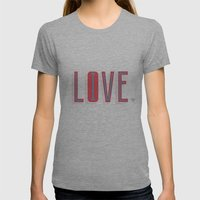 Live & Love Womens Fitted Tee Athletic Grey SMALL
