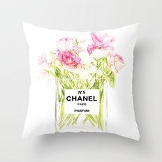 PERFUME FLORAL No.5 Throw Pillow