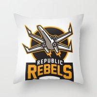 Republic Rebels Throw Pillow