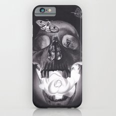 Surreal Drawing of Glowing Skull with Rose and Moths Slim Case iPhone 6s