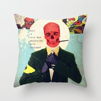 What Is This Mad Obsessi… Throw Pillow