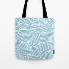 Ab Lines Sky Blue Tote Bag