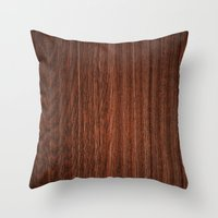 Wood #3 Throw Pillow