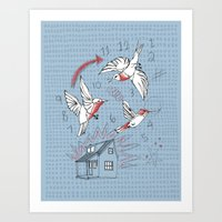 Cuckoo Clocking Art Print