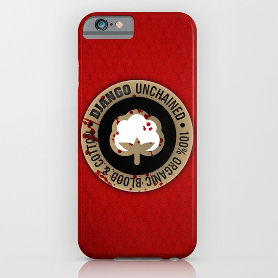 Minimal movie cover: Django Unchained iPhone & iPod Case
