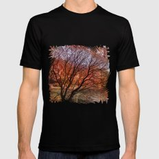 Mad colors of Autumn Mens Fitted Tee SMALL Black