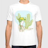 Westward Ho! Mens Fitted Tee White SMALL