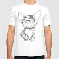 Gatopasta Mens Fitted Tee White SMALL