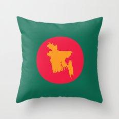 Flag   Bangladesh Throw Pillow