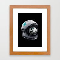 Astro Tiger Framed Art Print