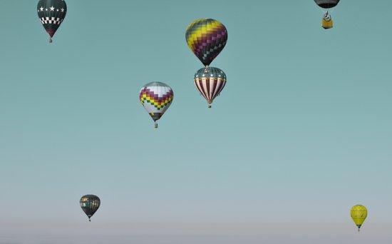 Float On, Hot Air Balloons. Art Print