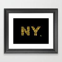 NIGHT NY - PM Framed Art Print