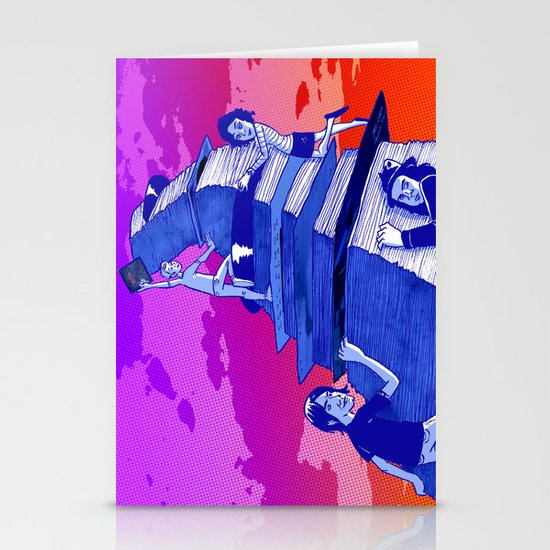 """""""Musicians Going Solo"""" by Dmitri Jackson Stationery Card"""