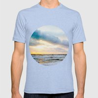 The Enchanted Sea  Mens Fitted Tee Tri-Blue SMALL