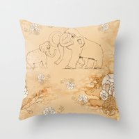 Cave Painting 101 Throw Pillow
