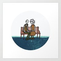 Companionship in the Park Art Print