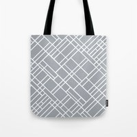Map Outline Grey 45  Tote Bag