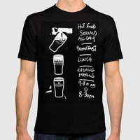 Liquid Lunch Mens Fitted Tee Black SMALL