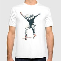 Skater 2 Mens Fitted Tee White SMALL