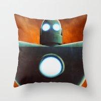 Stobot Throw Pillow