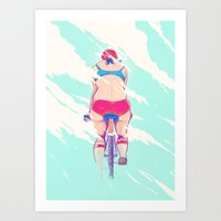 Ride In The Fog Art Print