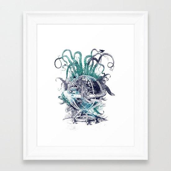 strange artefact amusement park Framed Art Print