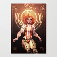 The Fifth Element: Leelo… Canvas Print