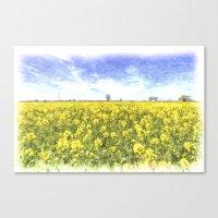 Summer Farm Trees Art Canvas Print