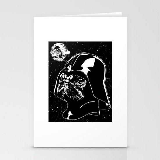 Pug Vader Stationery Card