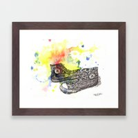 Converse Sneakers Painting Framed Art Print