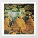 Into the Desert for a Crucial Test...(Stranger) Art Print