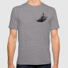 Black Bird Mens Fitted Tee Athletic Grey SMALL