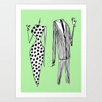 Him & Her Art Print