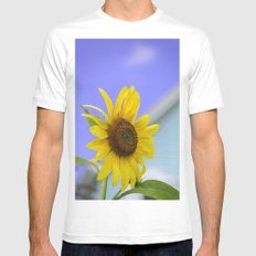 Summer Cottage Sunflower Mens Fitted Tee SMALL White