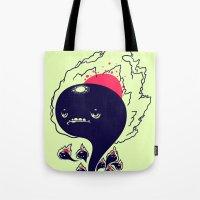 Flaming Squiggles Tote Bag